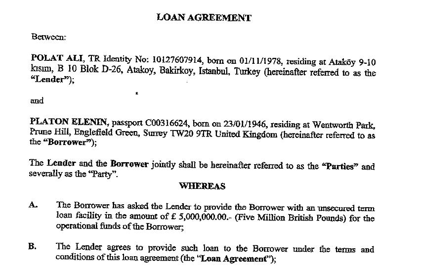 Berezovsky Loan