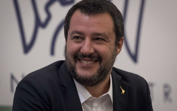 Salvini Photo by Mladen ANTONOV : AFP: Guliver Confindustria Russia, the local branch of the General Confederation of Italian Industry in Moscow on October 17, 2018 .jpg
